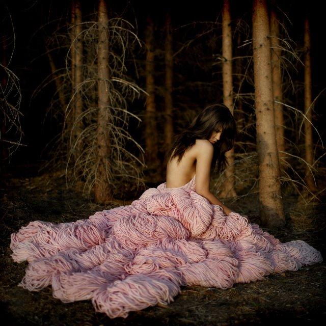 Jemma Sykes knitted wedding dress - Shortrounds Knitwear