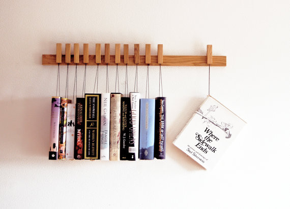 Suspended Oak Bookshelf by Agustav at Oates & Co. - Shortrounds Knitwear