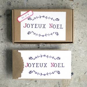Christmas, gift, festive, seasonal, presents, cards, letterpress, gift set, joyeux noel, christmas card,
