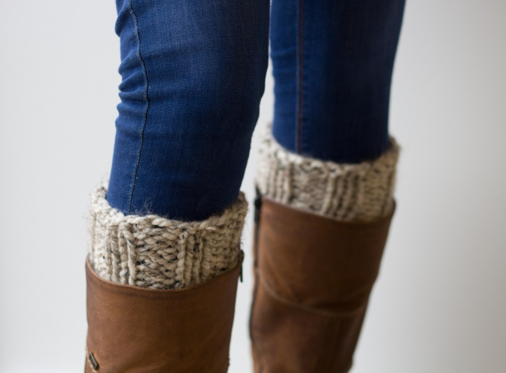 Handmade chunky knitted boot cuffs - Shortrounds