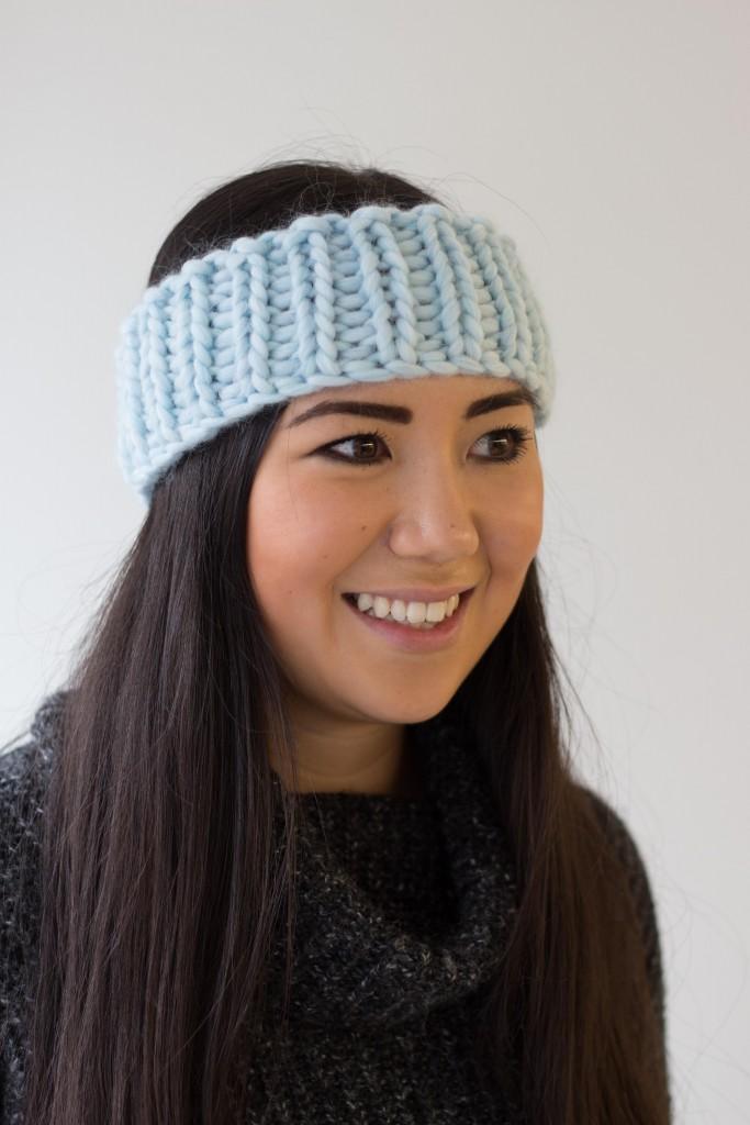 Handmade chunky knitted headband - Shortrounds
