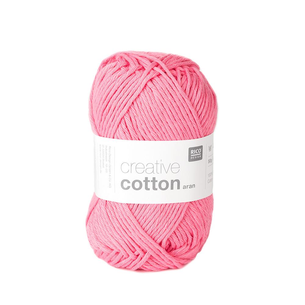 Rico Creative Cotton Aran budget yarns - Shortrounds Knitwear