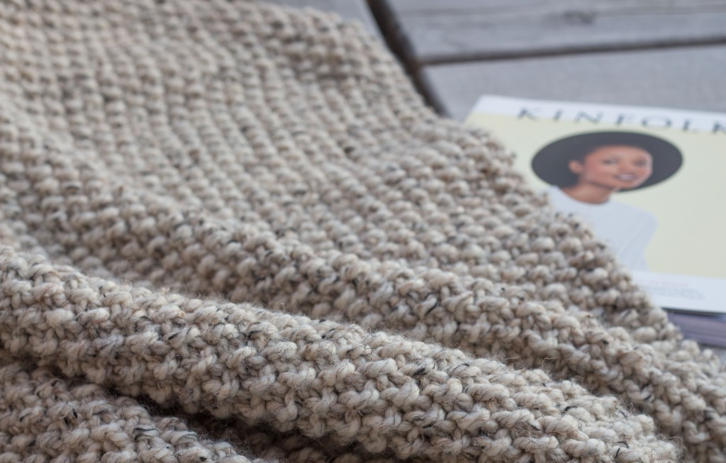 Seed stitch blanket - Shortrounds Knitwear