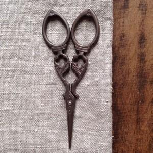 Yozo scissors antique style fancy | Shortrounds Knitwear