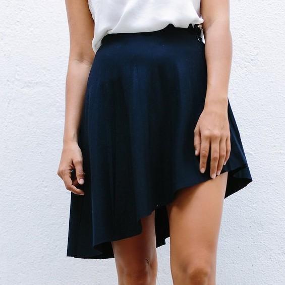 Asymmetrical skirt pattern | Shortrounds Knitwear