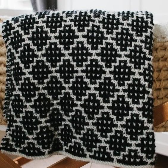 Purl Soho Mosaic Blanket | Shortrounds Knitwear