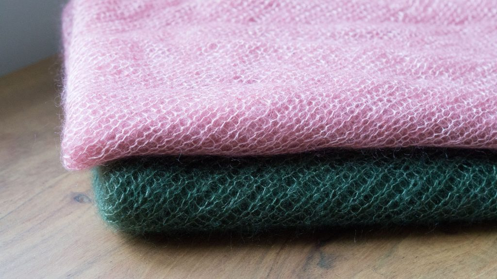 Two Mohair Bias Loop cowls by Churchmouse Yarns & Teas | Shortrounds Knitwear