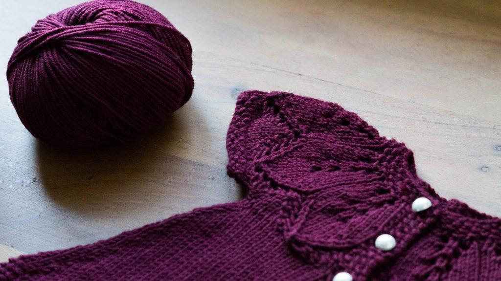 Autumn Leaves knitting pattern with Milla Mia Naturally Soft Merino   Shortrounds Knitwear
