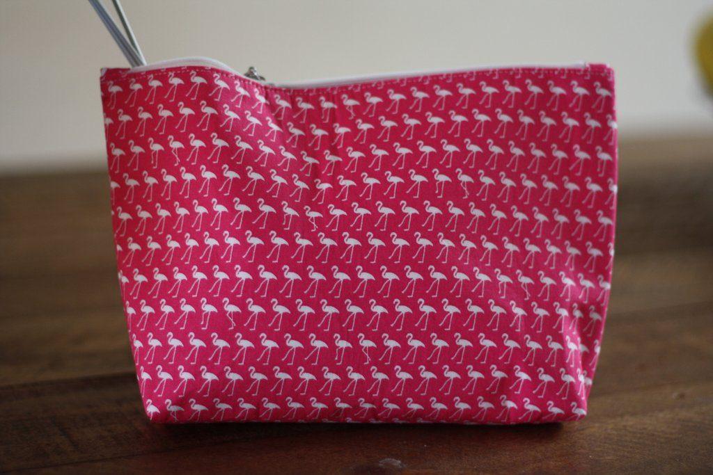 Flamingo notions bag Sonic Knits | Shortrounds Knitwear