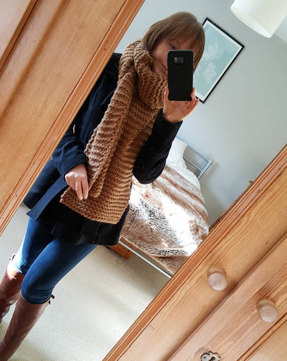 Ridgeway Scarf #wearyourknits | Shortrounds Knitwear