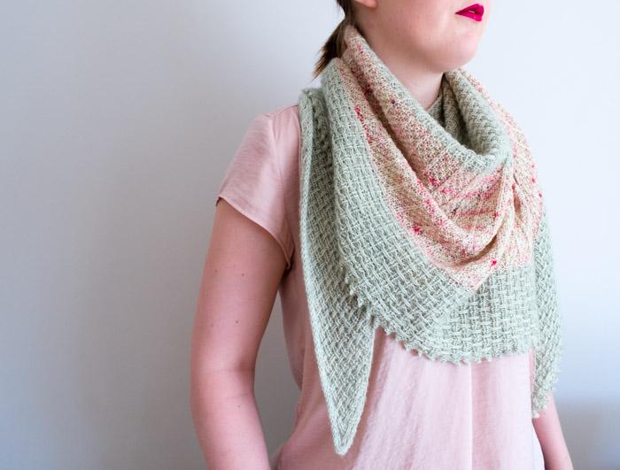 Hessian Shawl knitting pattern | Shortrounds Knitwear