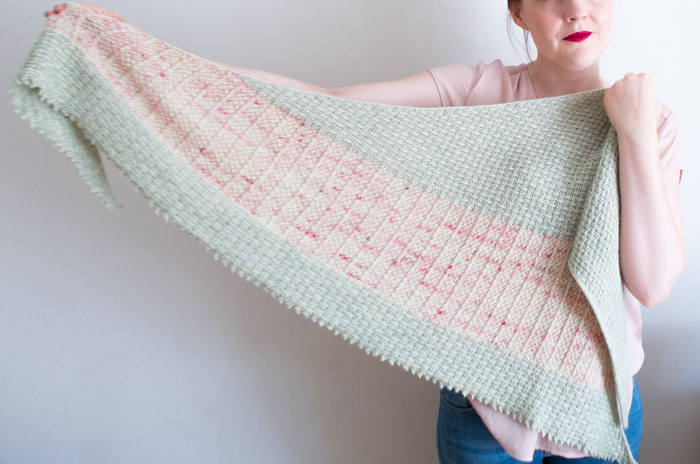 Hessian shawl knitting pattern | Shortrounds Knitwear