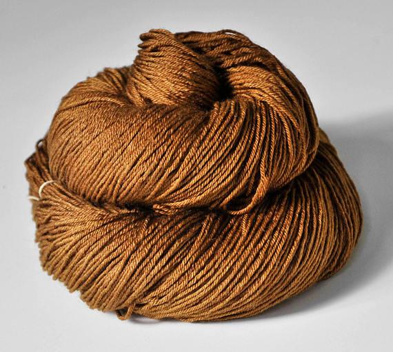 Dye For Yarn Merino Silk Camel Gone Wild - Shortrounds Knitwear